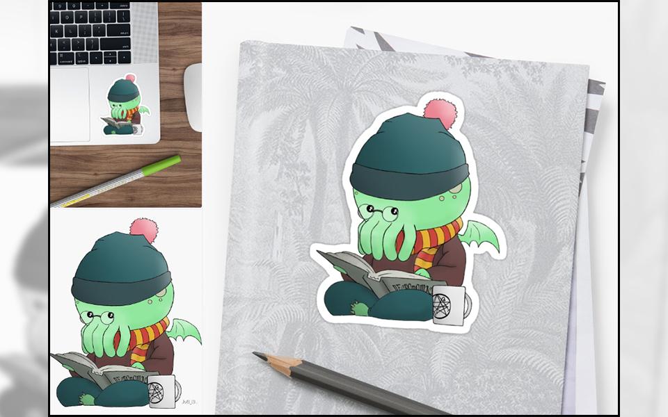 Cthulhu-Kawai-impression-stickers